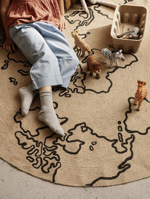 Ferm Living Jute Carpet Large - World