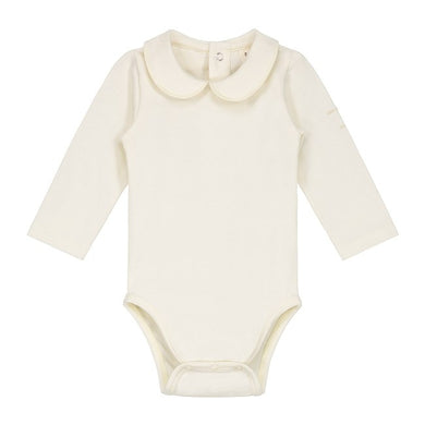 Gray Label Baby Onesie with Collar Cream