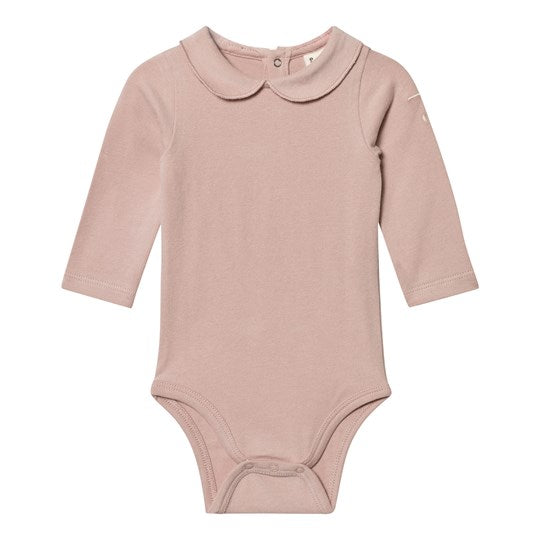 Gray Label Baby Onesie with Collar Vintage Pink
