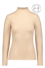 Kaiko Women Cashmere Turtleneck, Hay