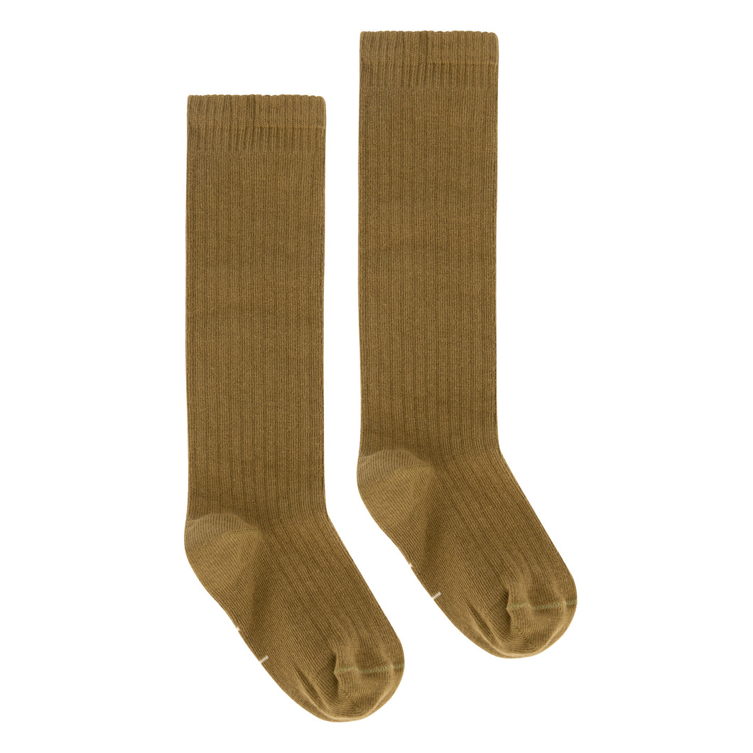 Gray Label Long Ribbed Socks Peanut