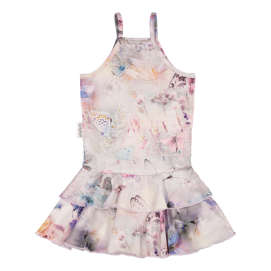 Gugguu Print Spaget Dress Fairytale Field