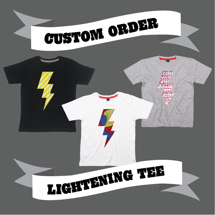 LIGHTENING BOLT TEE - CUSTOM ORDER