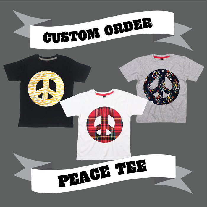 PEACE SIGN TEE - CUSTOM ORDER