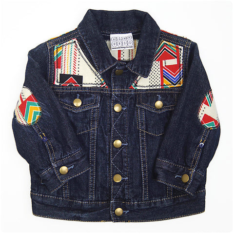 Baby/Toddler Denim Jacket with Aztec Print - 18-24 Months