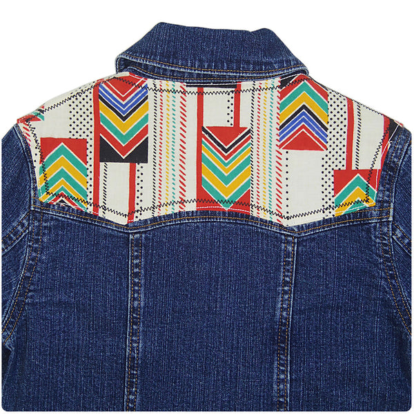 Childrens' Denim Jacket with Aztec Print - 4-5 Years