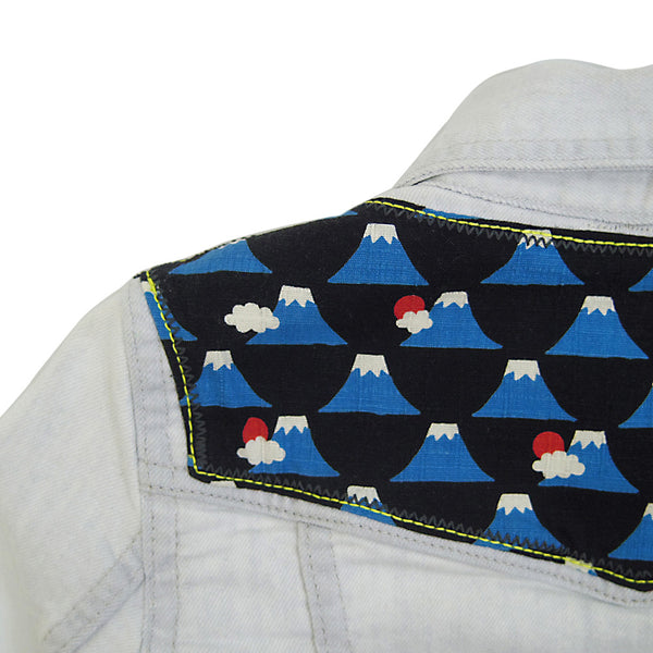 Toddler Denim Jacket with Volcano Print - 2-3 Years