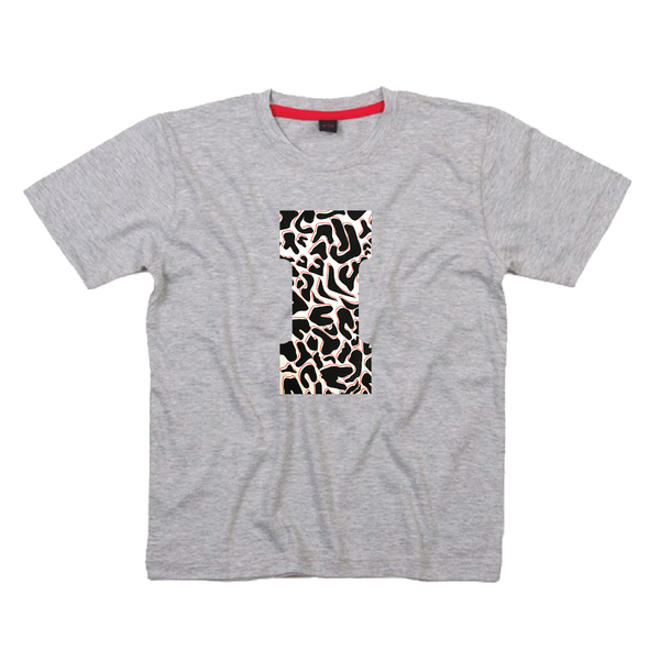 Childrens' Custom Letter T-Shirt - Grey/Personalised/Festival T-shirt