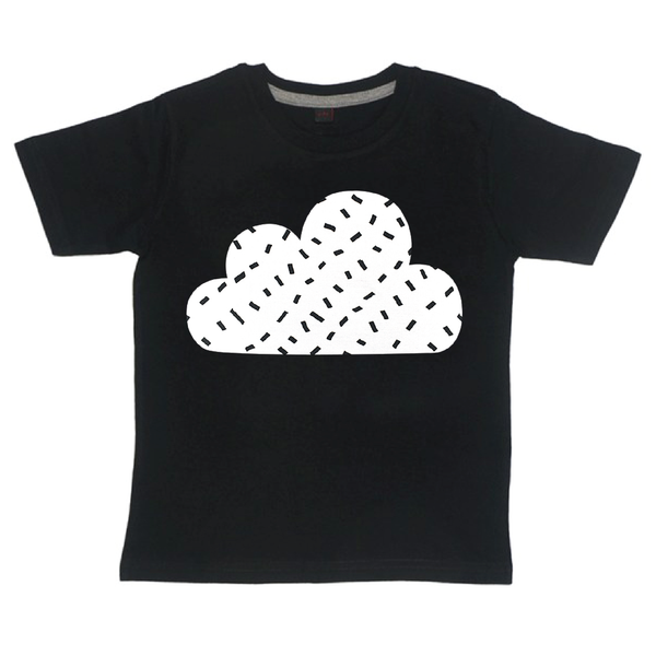 Childrens' Custom Cloud T-Shirt - Black/Personalised/Festival T-shirt