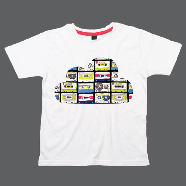 Childrens' Custom Cloud T-Shirt - White/Personalised/Festival T-shirt