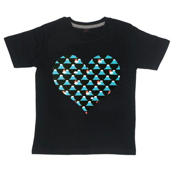 Childrens' Custom Heart T-Shirt - Black/Personalised/Festival T-shirt