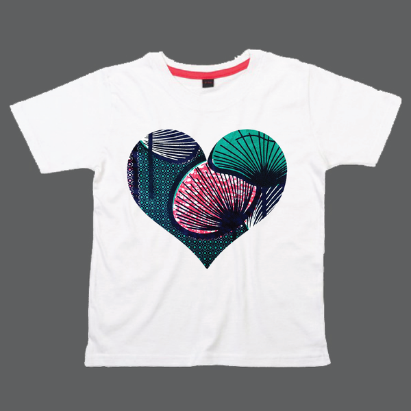 Childrens' Custom Hearts T-Shirt - White/Personalised/Festival T-shirt