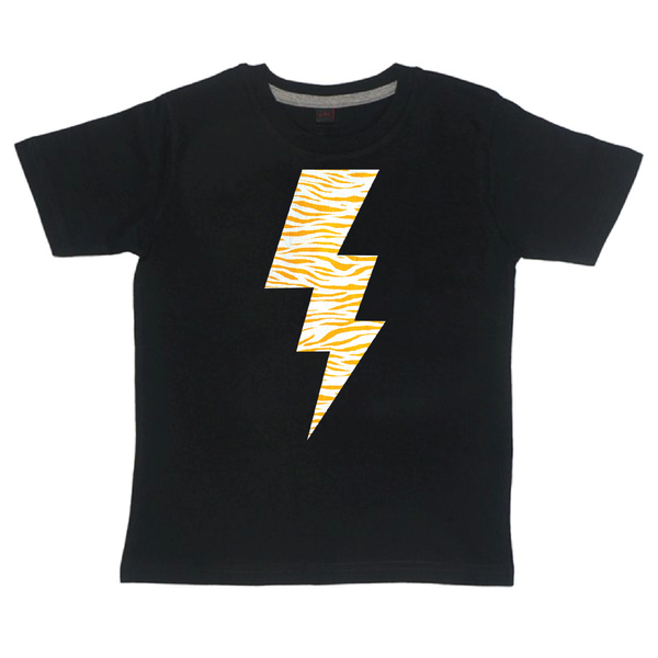 Childrens' Custom Lightening T-Shirt - Black/Personalised/Festival T-shirt