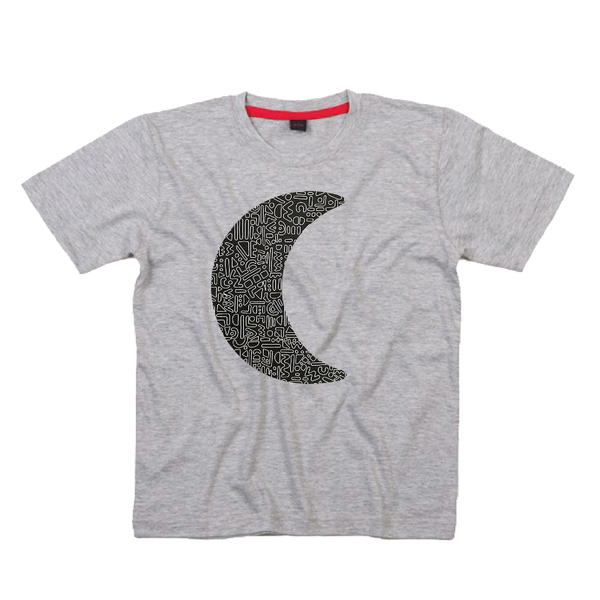 Childrens' Custom Moon T-Shirt - Grey/Personalised/Festival T-shirt