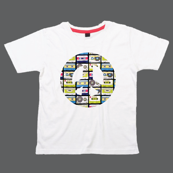 Childrens' Custom Peace Sign T-Shirt - White/Personalised/Festival T-shirt
