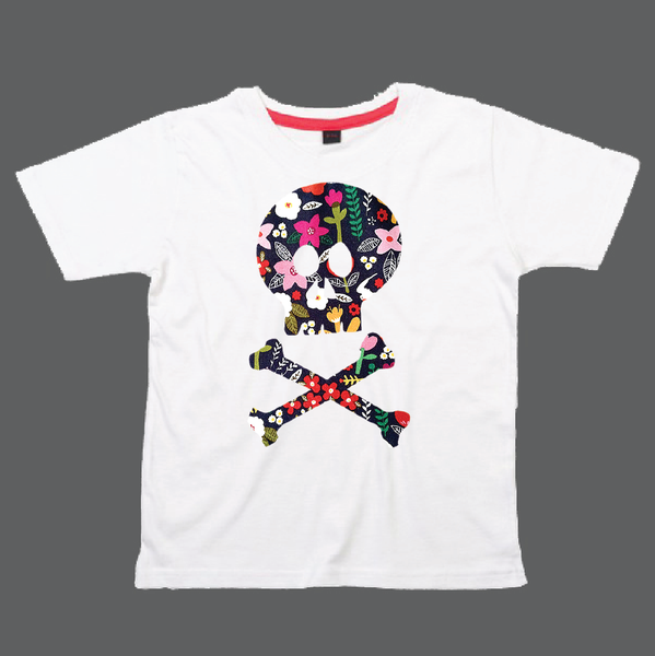 Childrens' Custom Skull T-Shirt - WhitePersonalised/Festival T-shirt