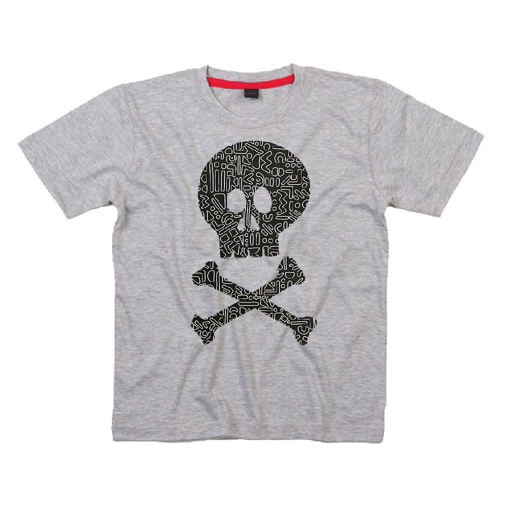 Childrens' Custom Skull T-Shirt - Grey/Personalised/Festival T-shirt