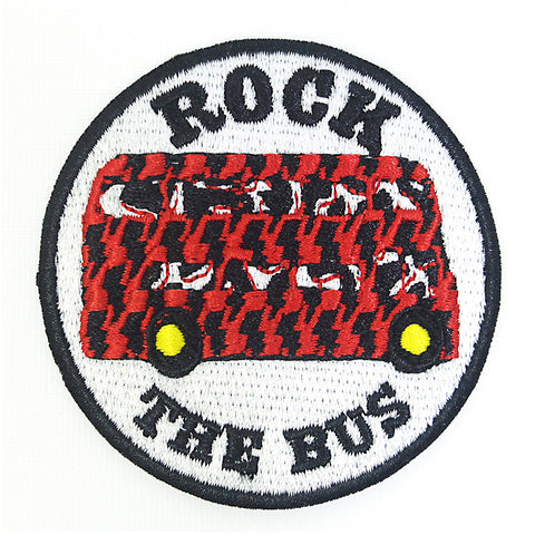 London Bus/Double Decker/Rock The Bus Patch/Badge - Iron On Patch