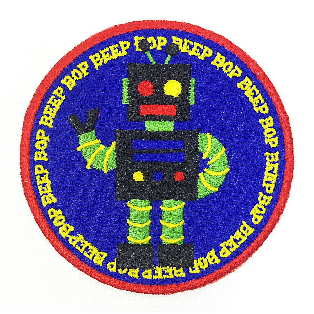 Robot Beep Bop Patch/Badge - Iron On Patch
