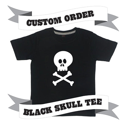 Childrens' Custom Skull T-Shirt - Black/Personalised/Festival T-shirt