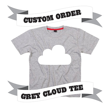 Childrens' Custom Cloud T-Shirt - Grey/Personalised/Festival T-shirt