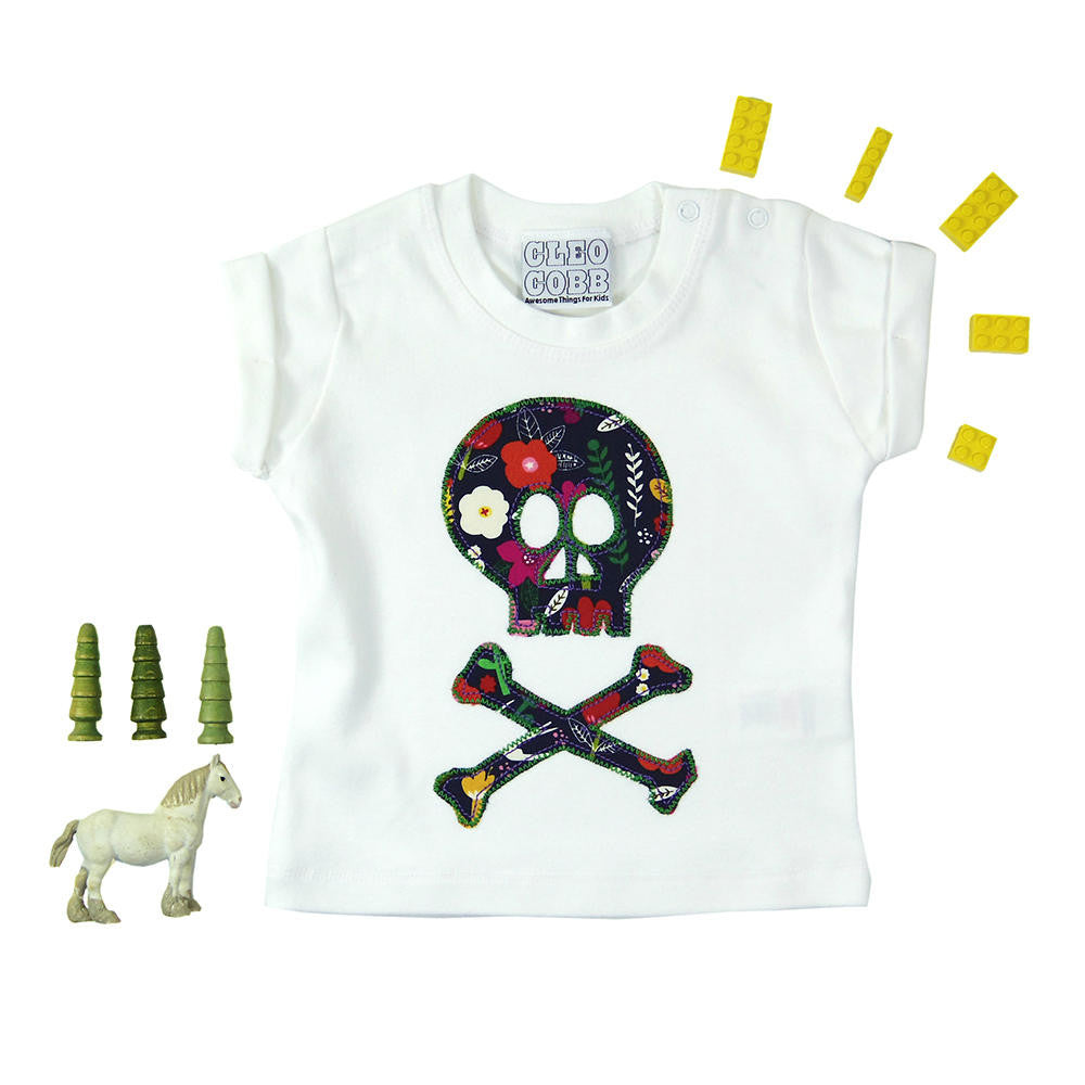 d9cc6064e ... Baby and Toddler Skull and Crossbones Patch T-Shirt Pirate Inspired  Unisex Design - Graphic ...