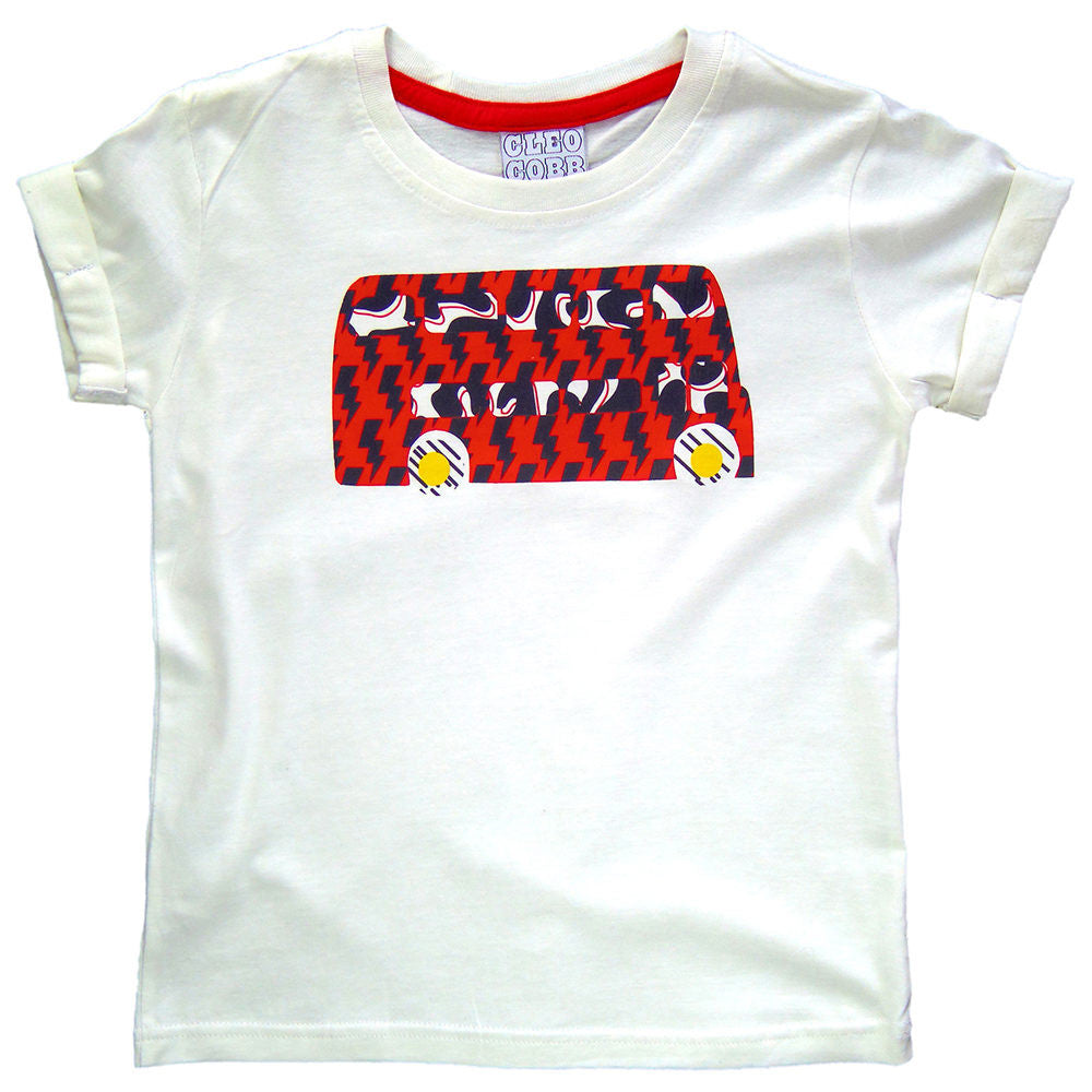 Childrens' London Bus Double Decker Rock The Bus T-Shirt Unisex Design