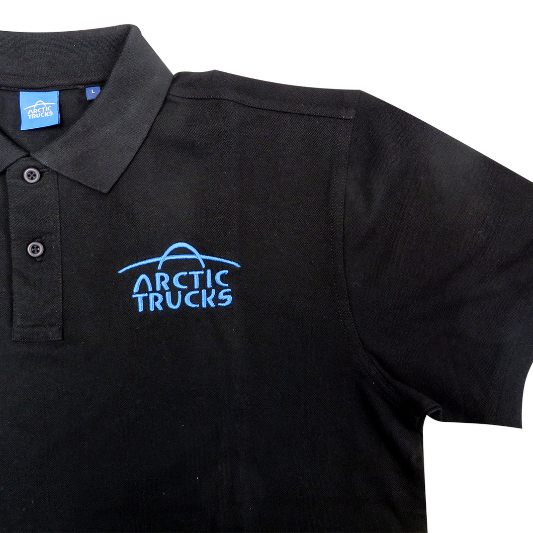 Arctic Trucks Mens Polo Shirt (Black w/ Blue Logo)