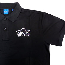 Arctic Trucks Mens Polo Shirt (Black w/ White Logo)