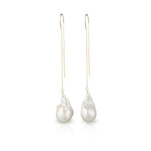 14 - Karat Gold Filled Baroque Freshwater Pearl Earrings