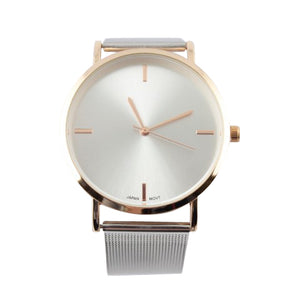 Montre Minimalist Gold and Silver Watch