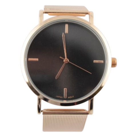 rose gold black fashion watch minimalist