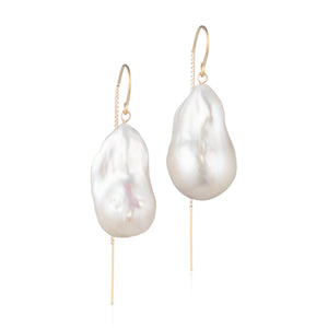 14 Karat Gold Filled Baroque Freshwater Pearl Earrings