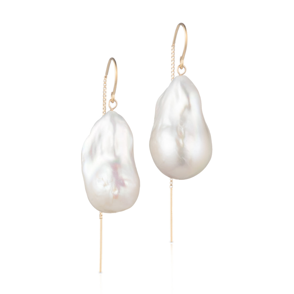 14 Karat Gold Filled Baroque Freshwater Pearl Drop Earrings