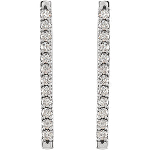 Les Petits Diamants Platinum Parisian Diamond Bar Earrings