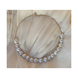 Demitasse Cultured Baroque Freshwater Pearl Collar Necklace