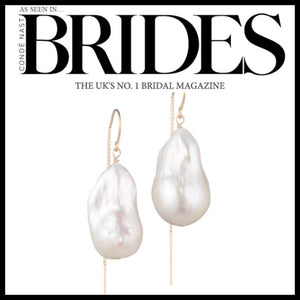 14K Gold Filled Baroque Freshwater Pearl Drop Earrings