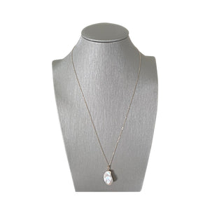 If Pearls Could Float Sterling Silver Baroque Pearl Pendant Necklace