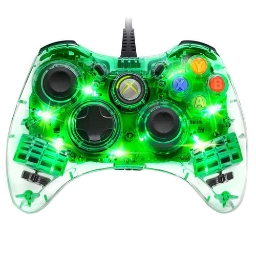 PDP Afterglow Wired Controller SmartTrack Technology Green Xbox 360