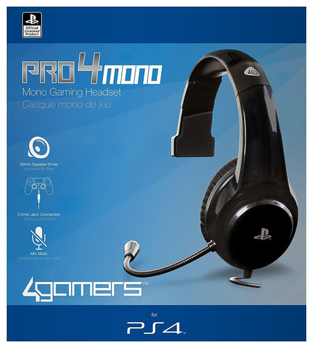 Playstation 4 Officially Licensed PRO4-MONO Gaming Headset PS4