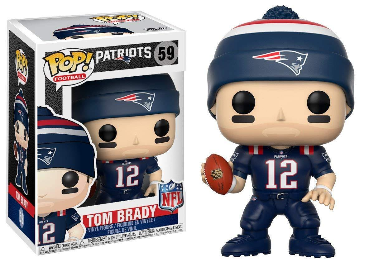 detailed look 83355 46455 Funko Pop Football 59 NFL 4 Patriots Color Rush Blue Jersey Tom Brady Figure
