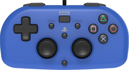 Hori PS4 Wired Mini Gamepad Game Controller For PS4 Blue