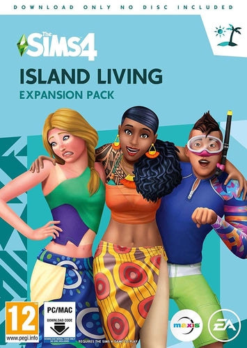 The Sims 4 Island Living Expansion Pack PC Digital Download Code in a Box