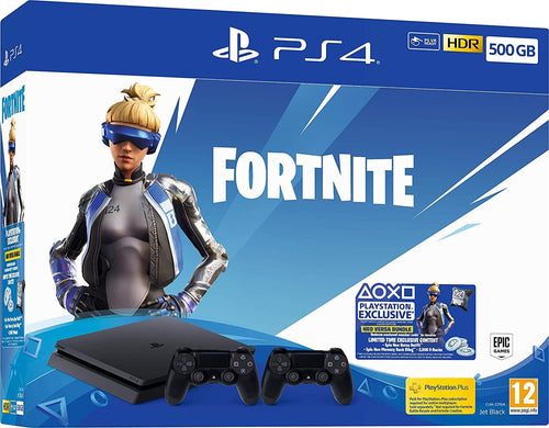 PlayStation PS4 Fortnite NeoVersa 500GB Bundle 2000Vbucks & Second DUALSHOCK Pad