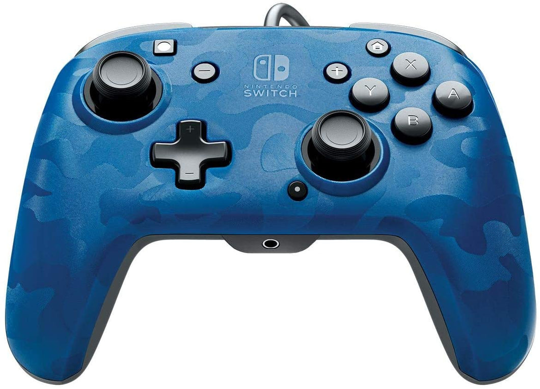 PDP Face off Deluxe Switch Controller and Audio (Camo Blue) for Nintendo Switch