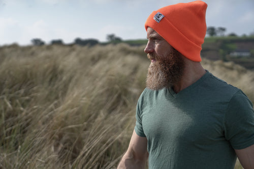 Summer Orange Beanie