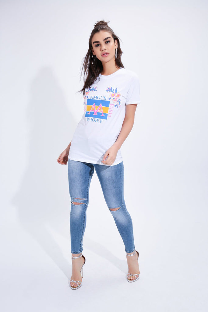 White Amour T-Shirt