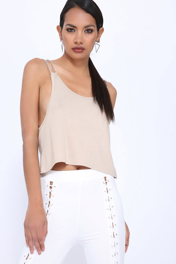 Stone Cami With Chain Strap