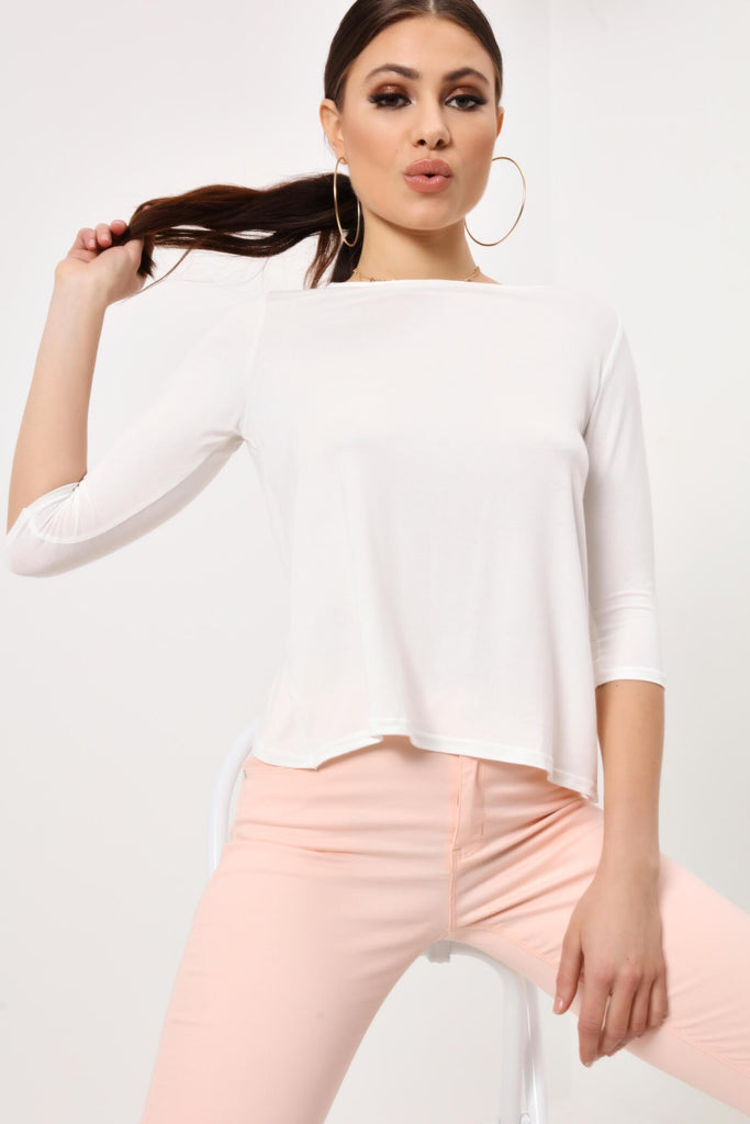Cream Slouchy Top