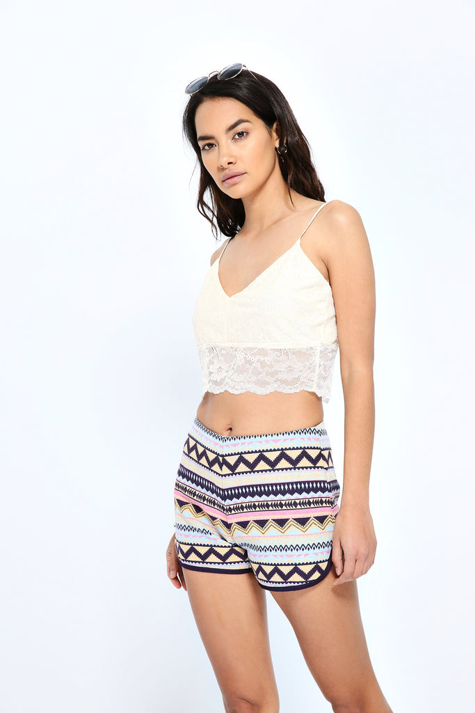 Multi Aztec Runner Shorts